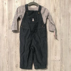 Carters Boys 6-9 Month Penguin Overall Set